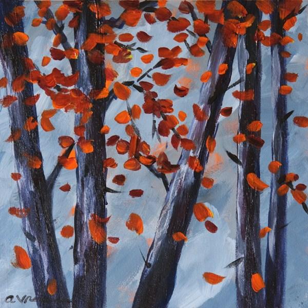 """Crimson Glory"" original fine art by Anna Vreman"
