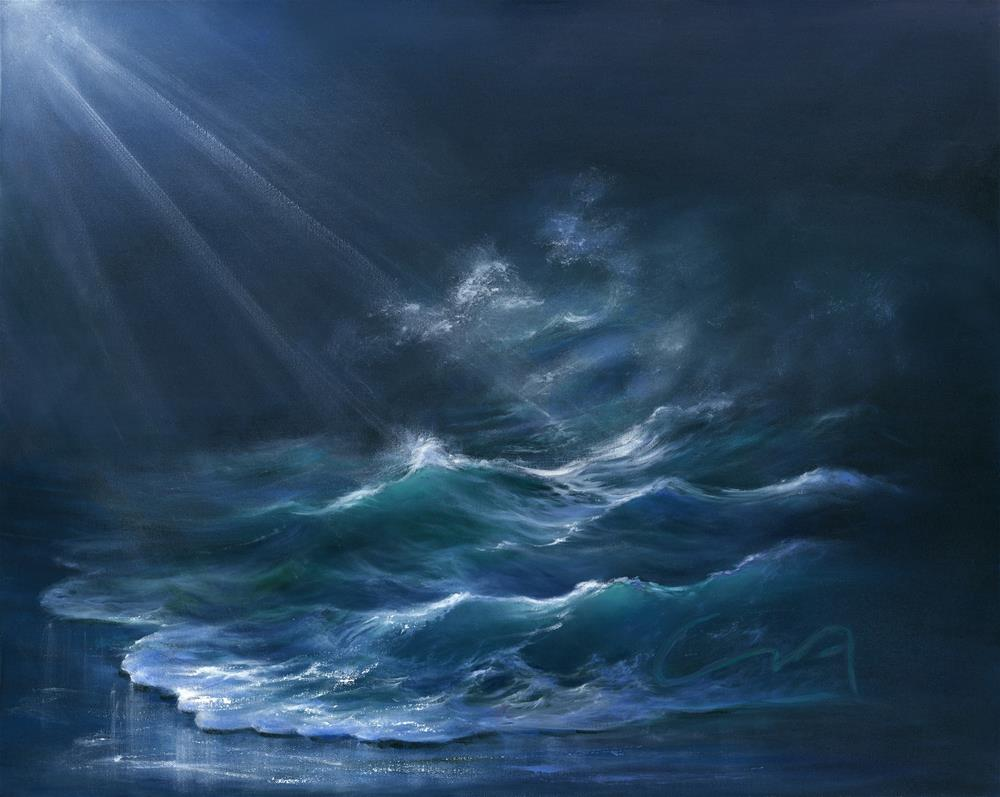 """Moonlit"" original fine art by Sharon Abbott-Furze"