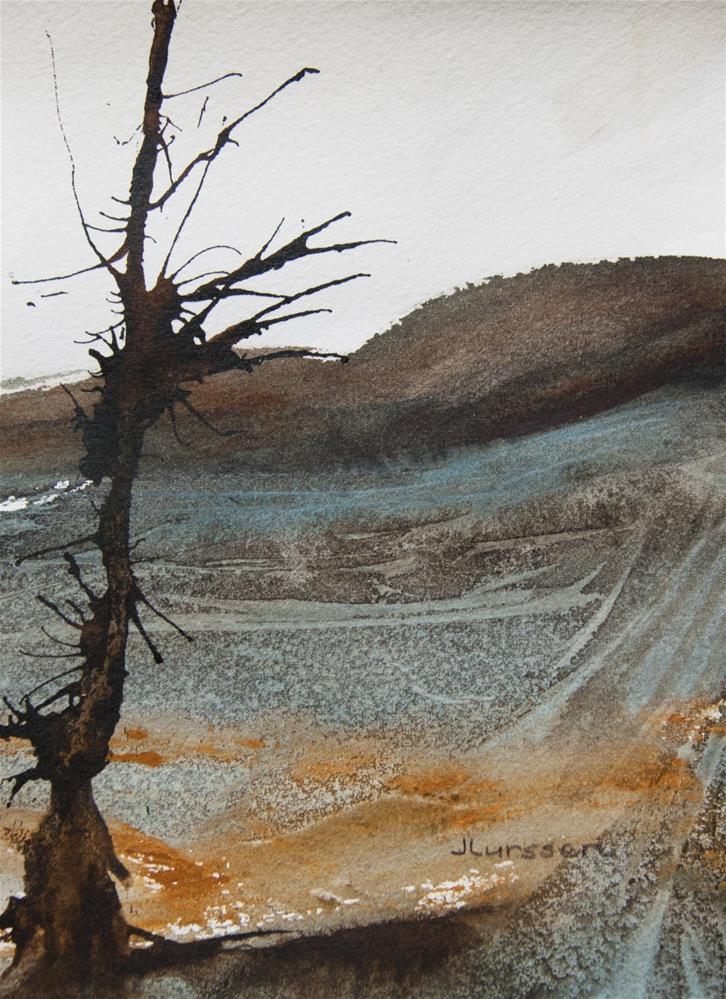 """""""Patterns In The Landscape"""" original fine art by Jean Lurssen"""
