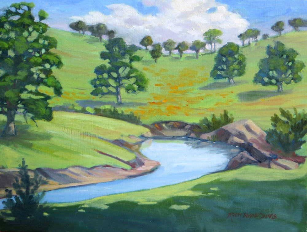 """Spring Creek"" original fine art by Rhett Regina Owings"