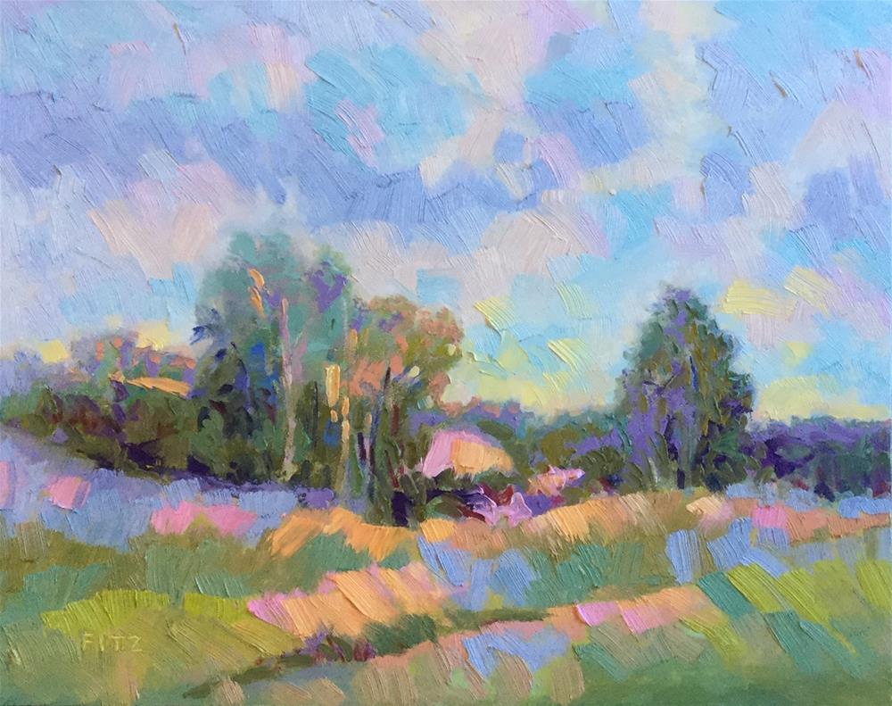 """Impasto Landscape Study 1"" original fine art by Charlotte Fitzgerald"