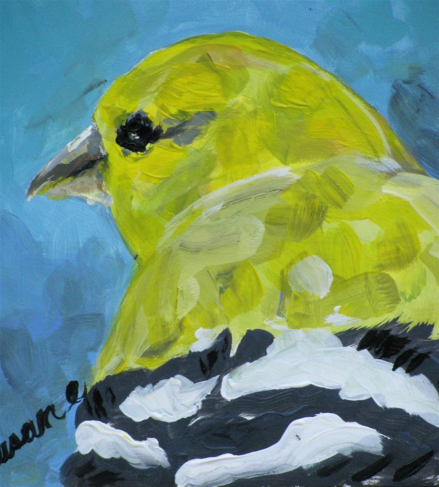 """Yellow Finch"" original fine art by Susan Elizabeth Jones"