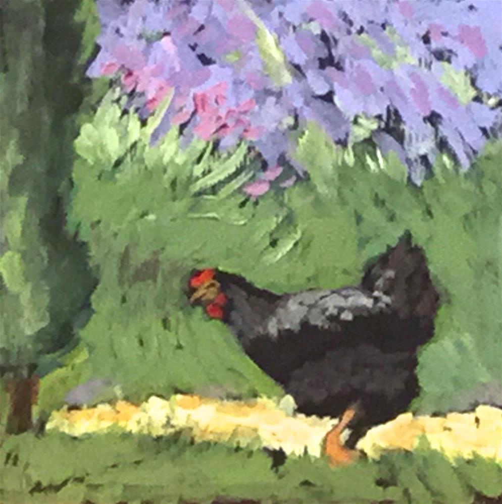 """""""Blue Grass"""" original fine art by Judy Elias"""