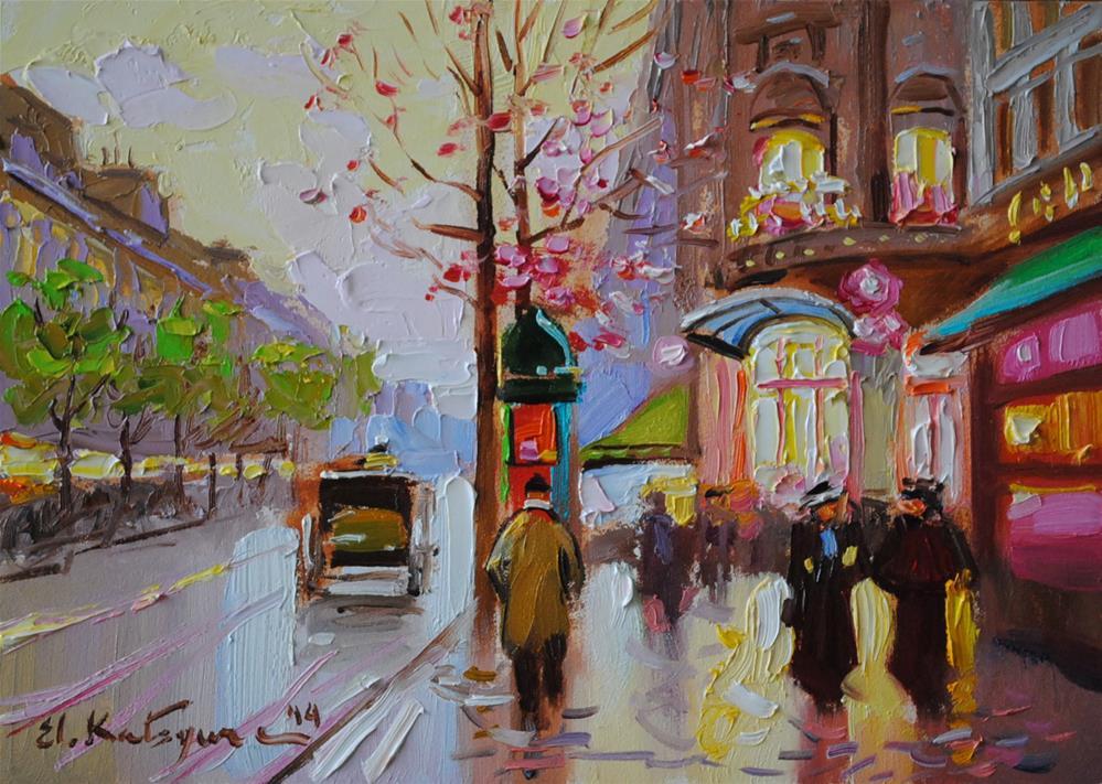 """Greeting Spring"" original fine art by Elena Katsyura"