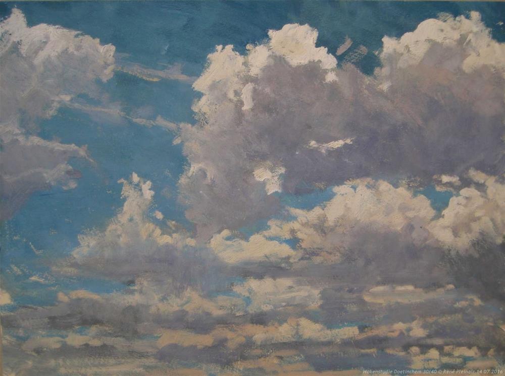 """Coud study Doetinchem, The Netherlands"" original fine art by René PleinAir"