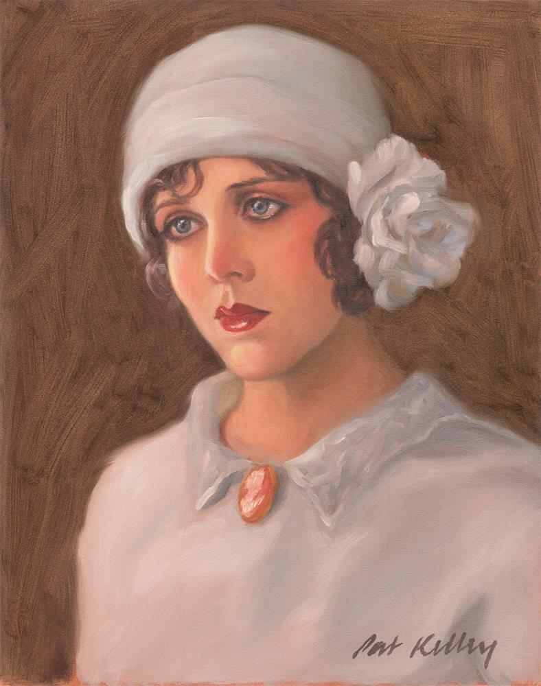 """""""Girl in a Cloche Hat"""" original fine art by Pat Kelley"""