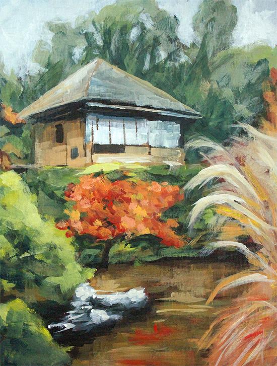"""Kyoto Tea Garden"" original fine art by J. Farnsworth"
