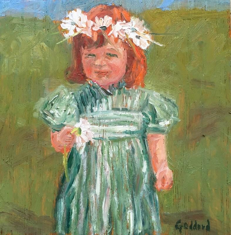 """Daisy Crown"" original fine art by Shari Goddard Shambaugh"