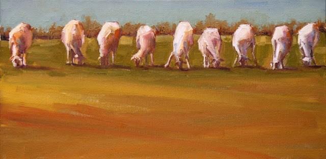 """lotsa sheepsa"" original fine art by Carol Carmichael"