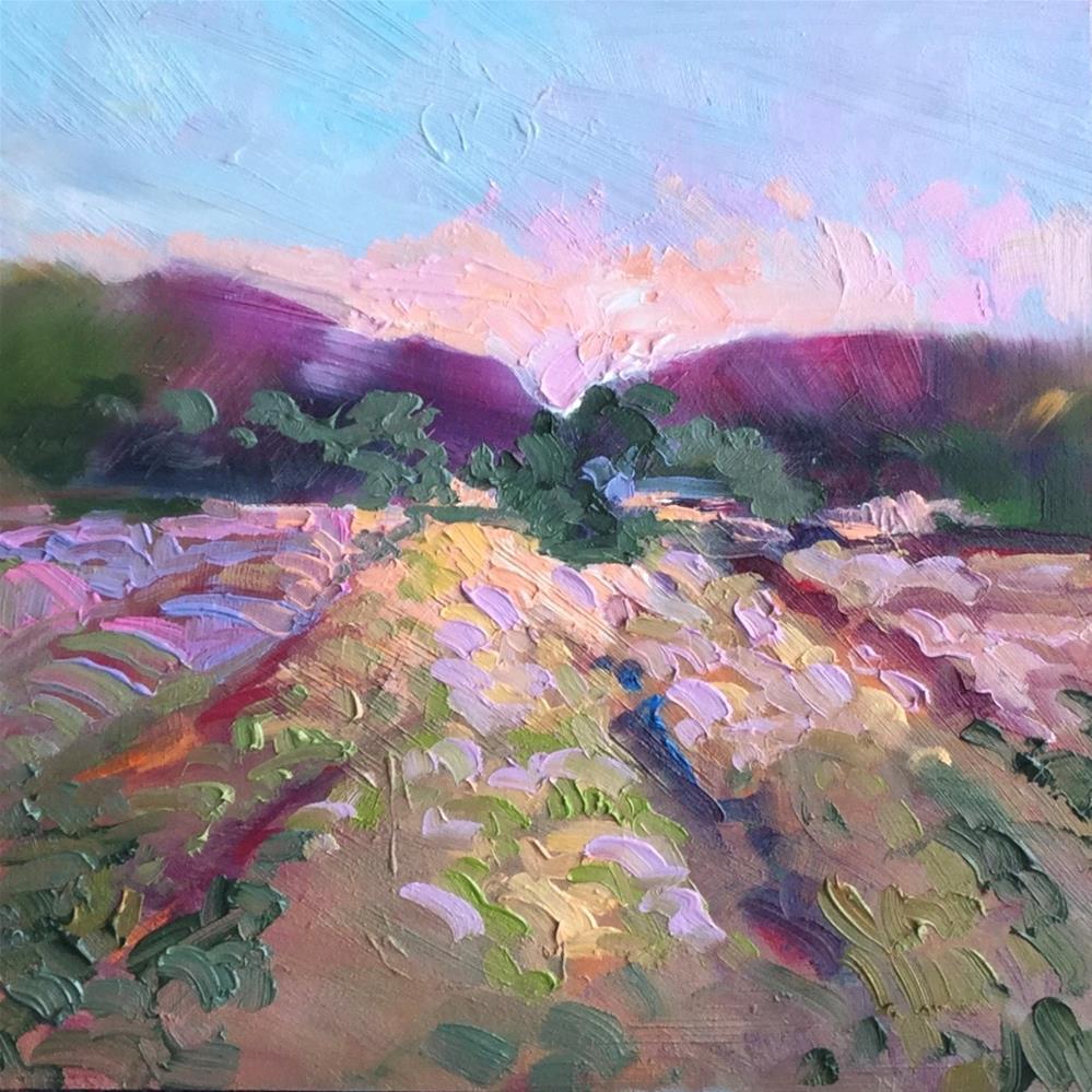 """Impasto Landscape Study 49"" original fine art by Charlotte Fitzgerald"