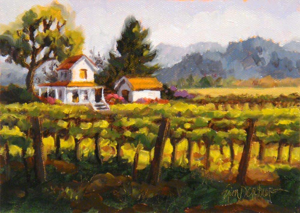 """Vineyard Digs"" original fine art by Erin Dertner"