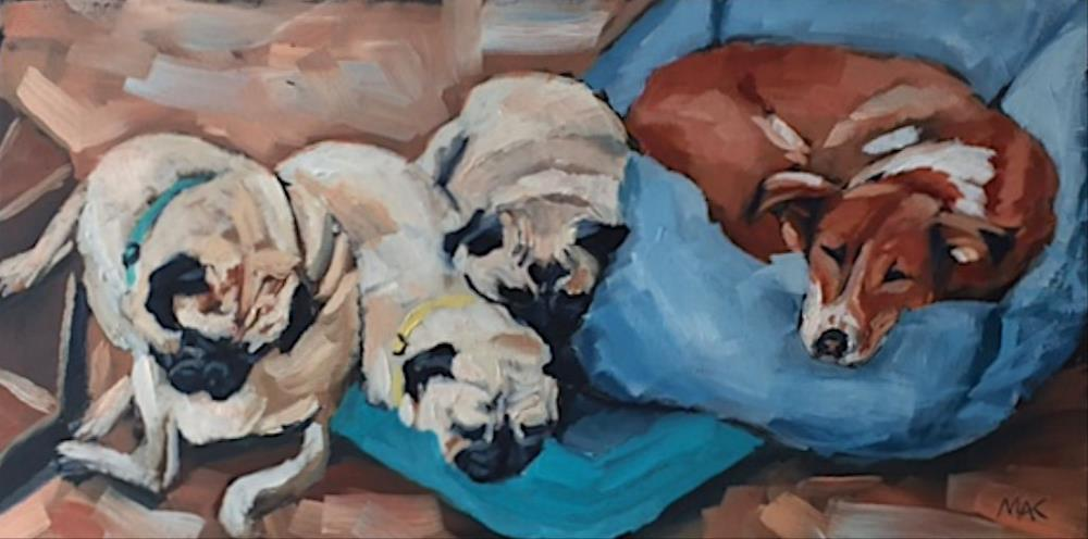 """Let Sleeping Dogs Lie"" original fine art by Mary Anne Cary"