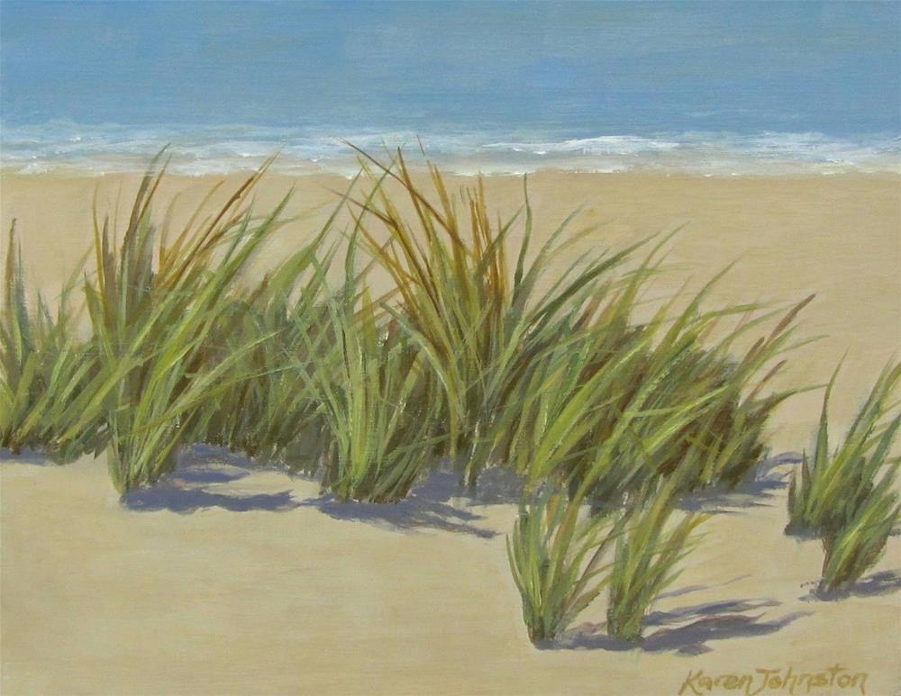 """""""Beach Grass"""" original fine art by Karen Johnston"""