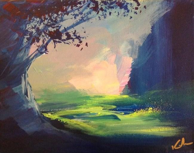 """""""And Listening Still"""" original fine art by David Kuhn"""