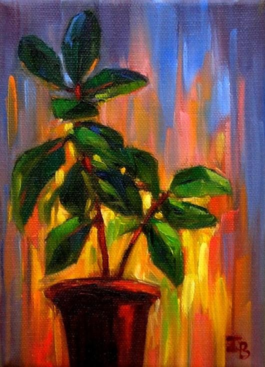 """Ficus"" original fine art by Irina Beskina"