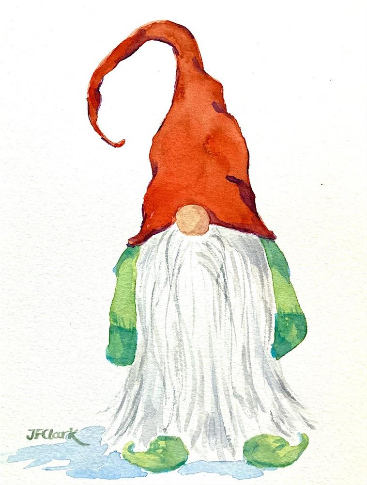 """Jultomten II, sketch"" original fine art by Judith Freeman Clark"