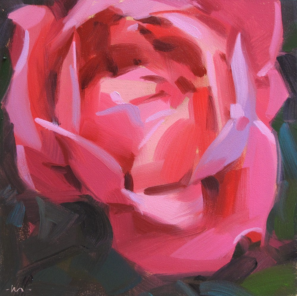 """Don't Blush Rose"" original fine art by Carol Marine"