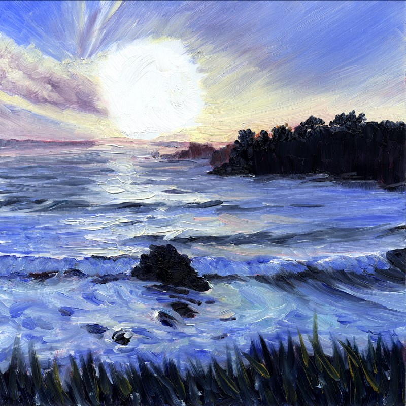 """""""Gorgeous End of the Day"""" original fine art by Mariko Irie"""