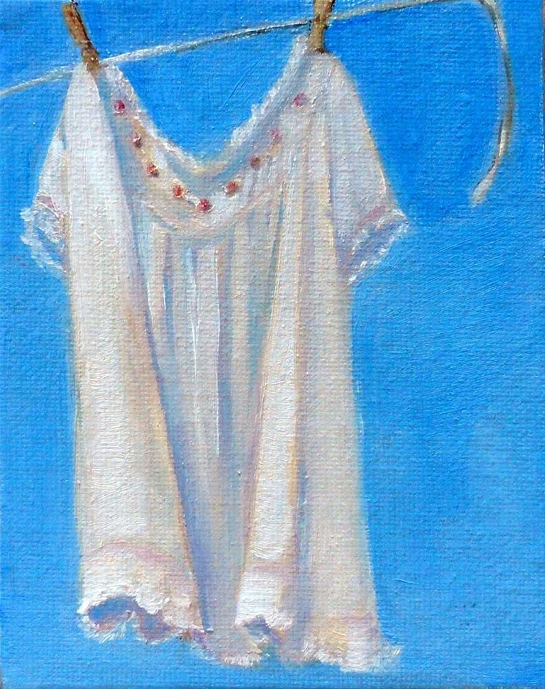 """Antique Baby Dress"" original fine art by Cietha Wilson"
