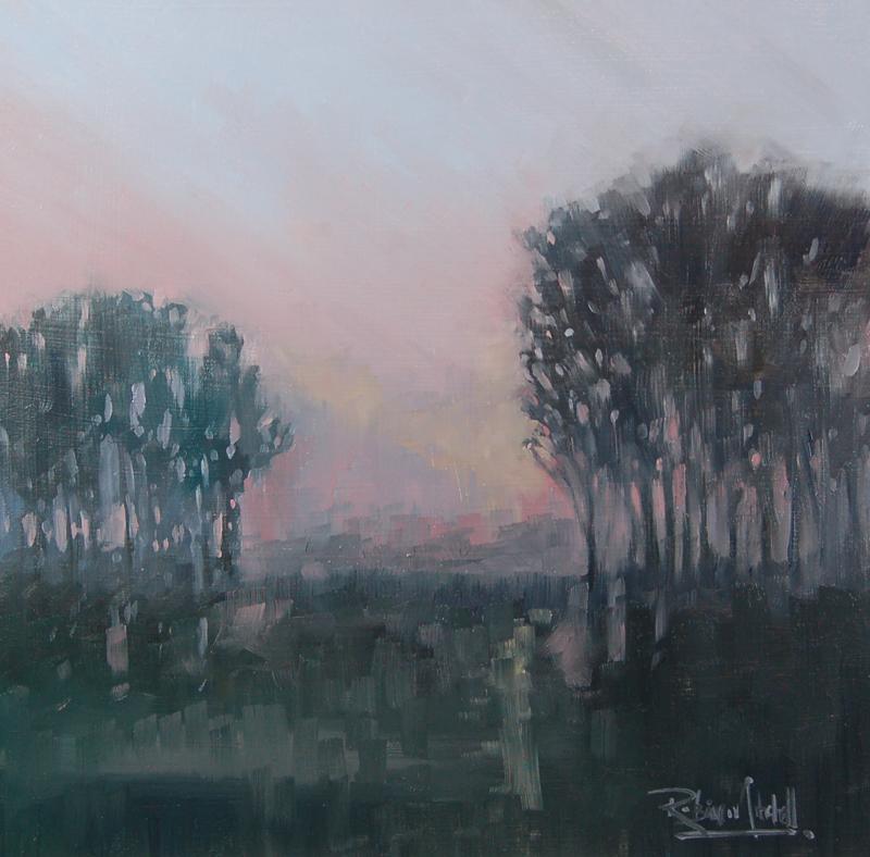"""No 359 Morning Fog"" original fine art by Robin J Mitchell"