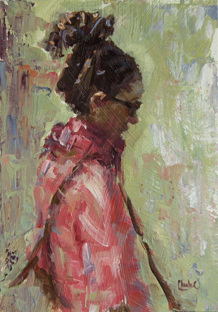 """In Paris"" original fine art by Chantel Barber"