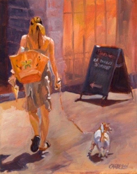 """""""Leaving the Scene II"""" original fine art by Carolynn Doan"""