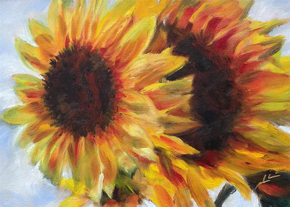"""Up Against the Sky"" original fine art by Linda Lowery"