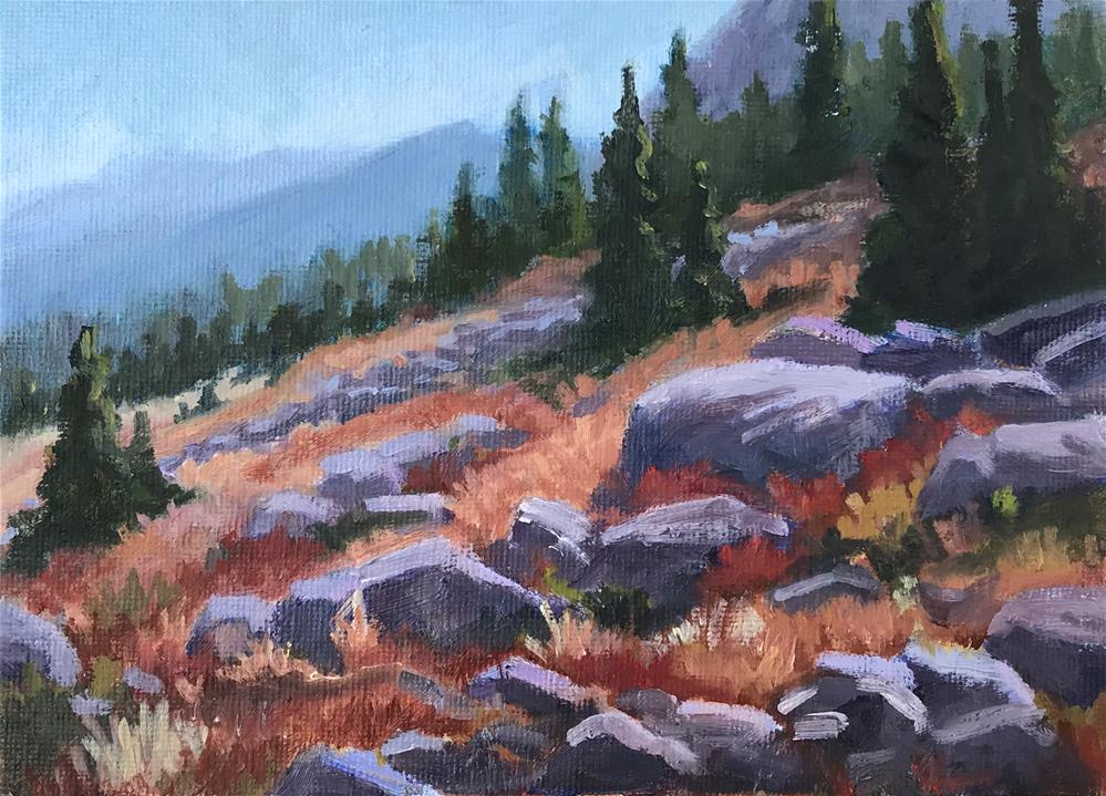 """""""End of Summer in the High Country"""" original fine art by Gary Alsum"""