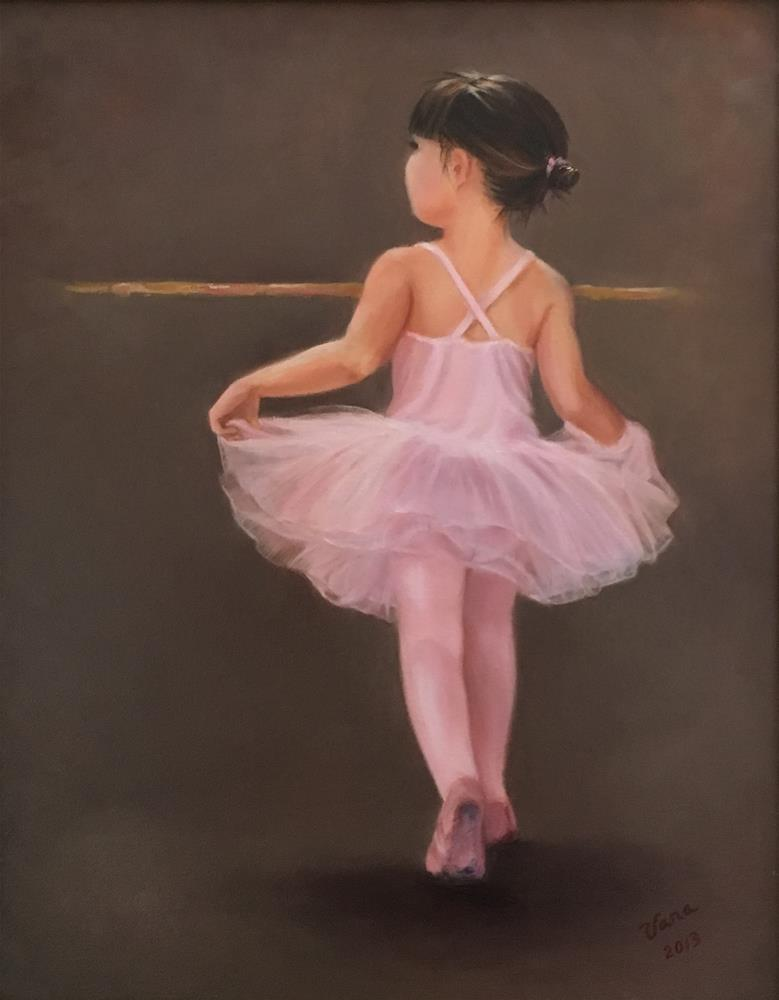 """Kyla at Ballet"" original fine art by Vana Meyers"