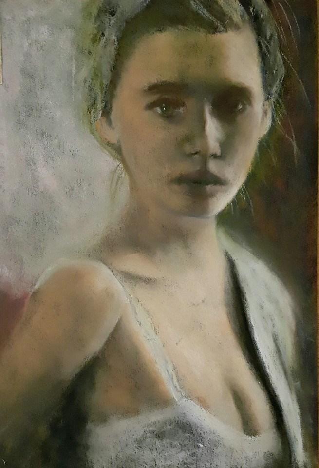 """Study in greys"" original fine art by Rentia Coetzee"