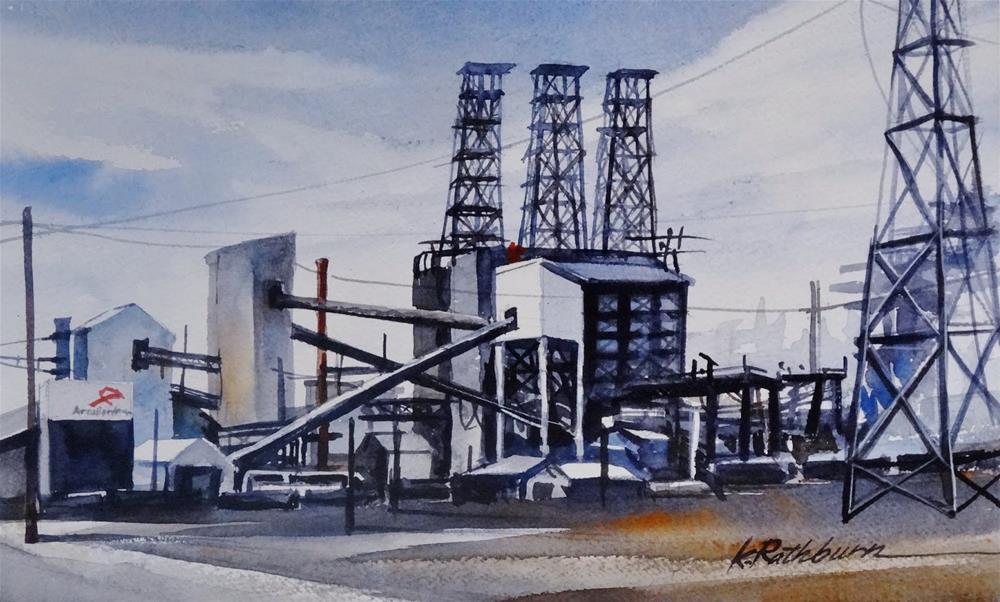 """Insights on Industry VIII"" original fine art by Kathy Los-Rathburn"
