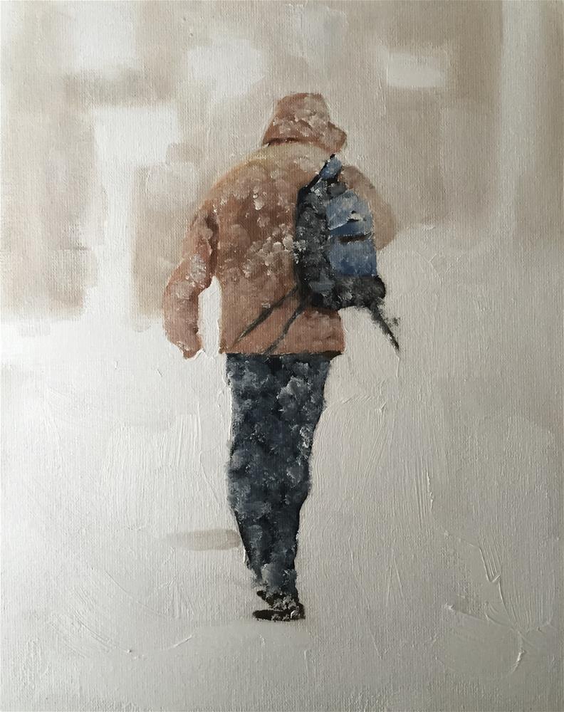 """""""In the Snow"""" original fine art by James Coates"""