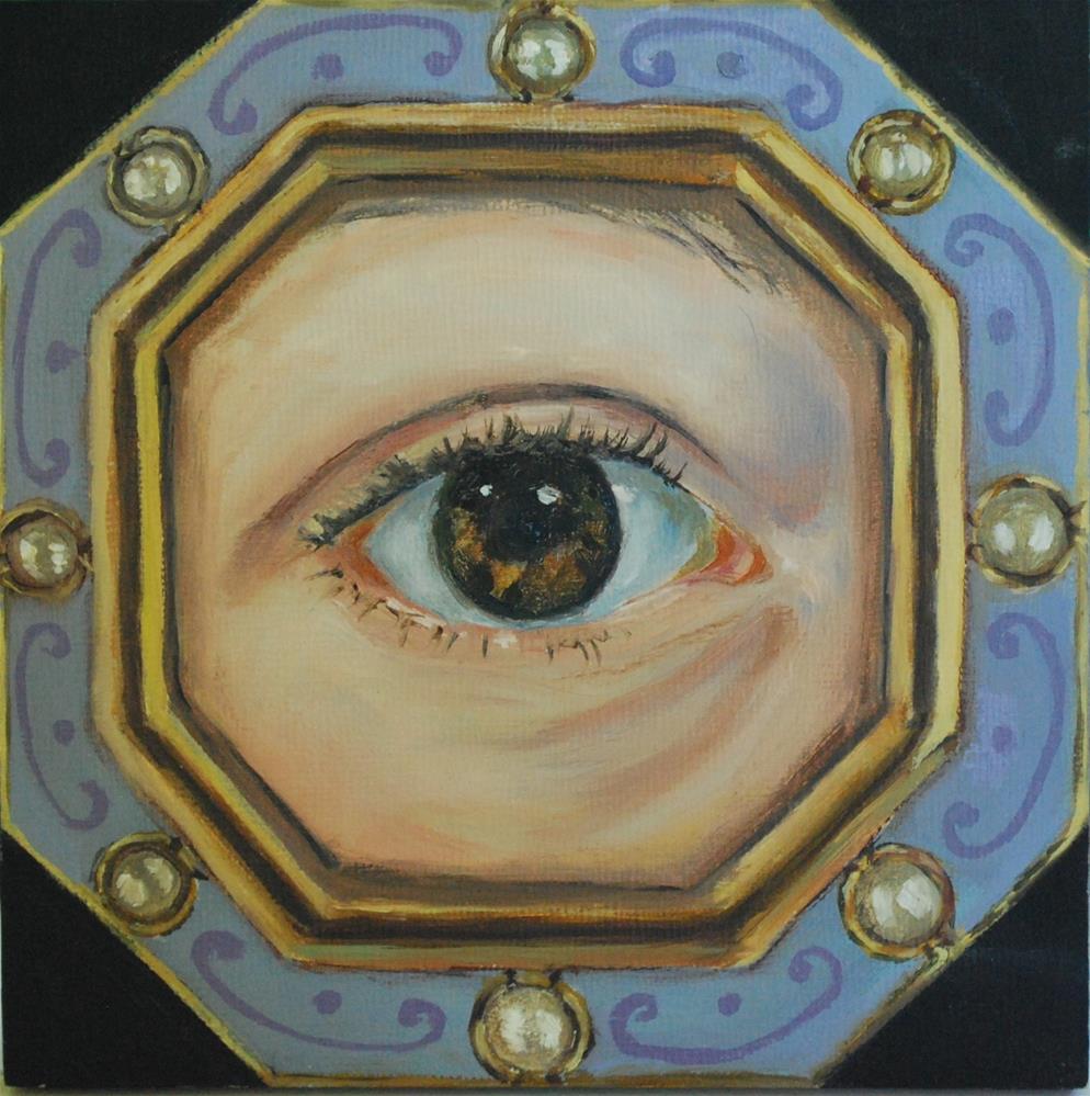 """Eye portrait"" original fine art by Beverley Phillips"