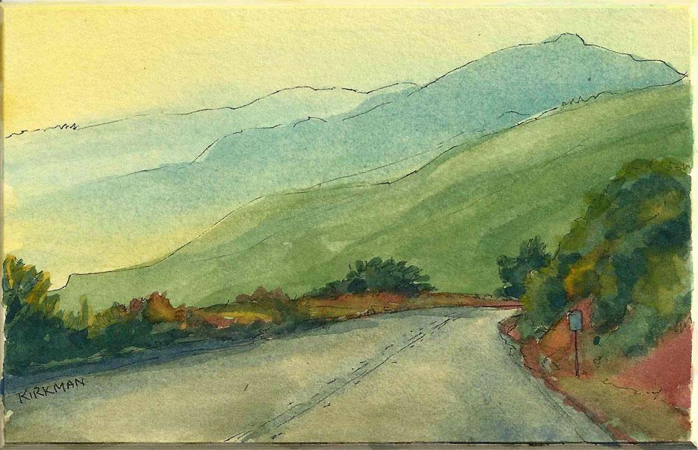 """Road Sketch 13"" original fine art by Rita Kirkman"