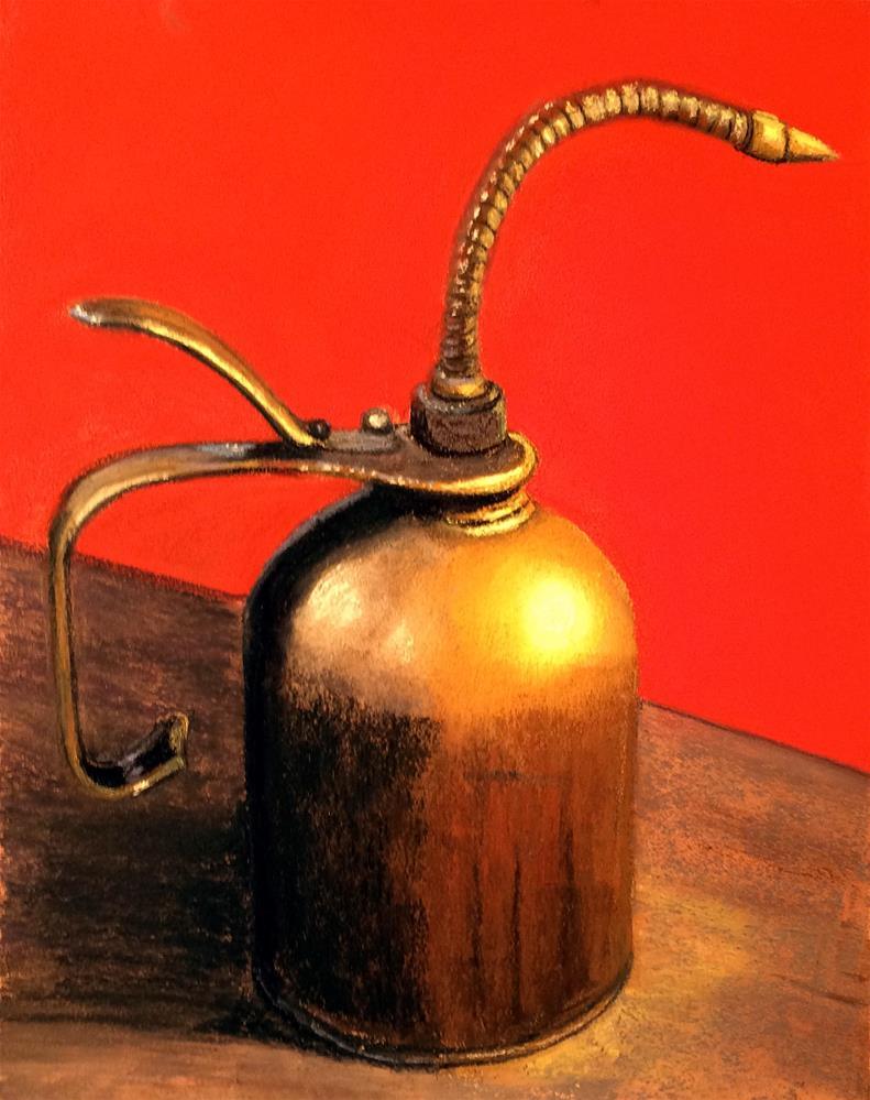 """Lube It"" original fine art by Cristine Kossow"