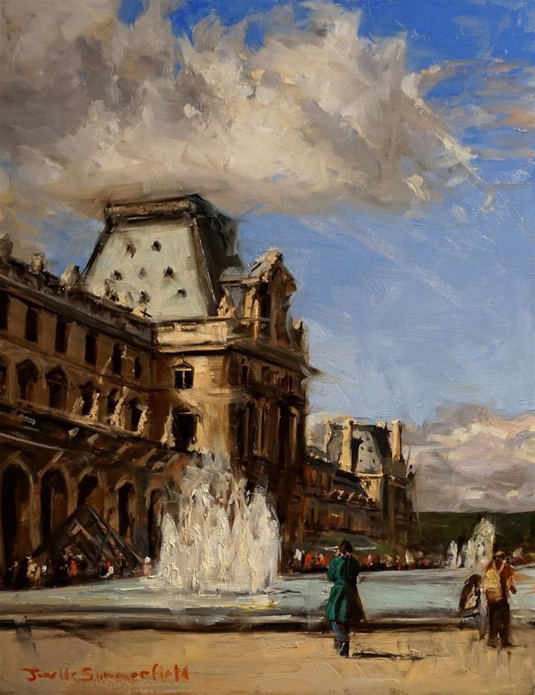 """Going to the Louvre"" original fine art by Jonelle Summerfield"