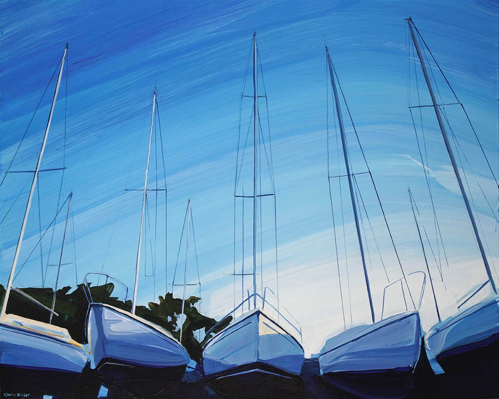 """Boat Hulls"" original fine art by Chris Breier"