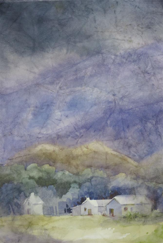 """""""Stormy Day in Lone Pine"""" original fine art by Julie Crouch"""