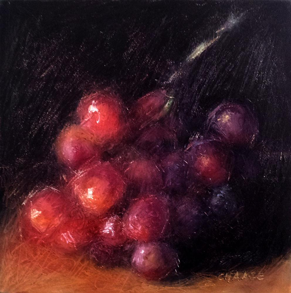 """""""Red Grapes - Grapes Number 2"""" original fine art by Cindy Haase"""