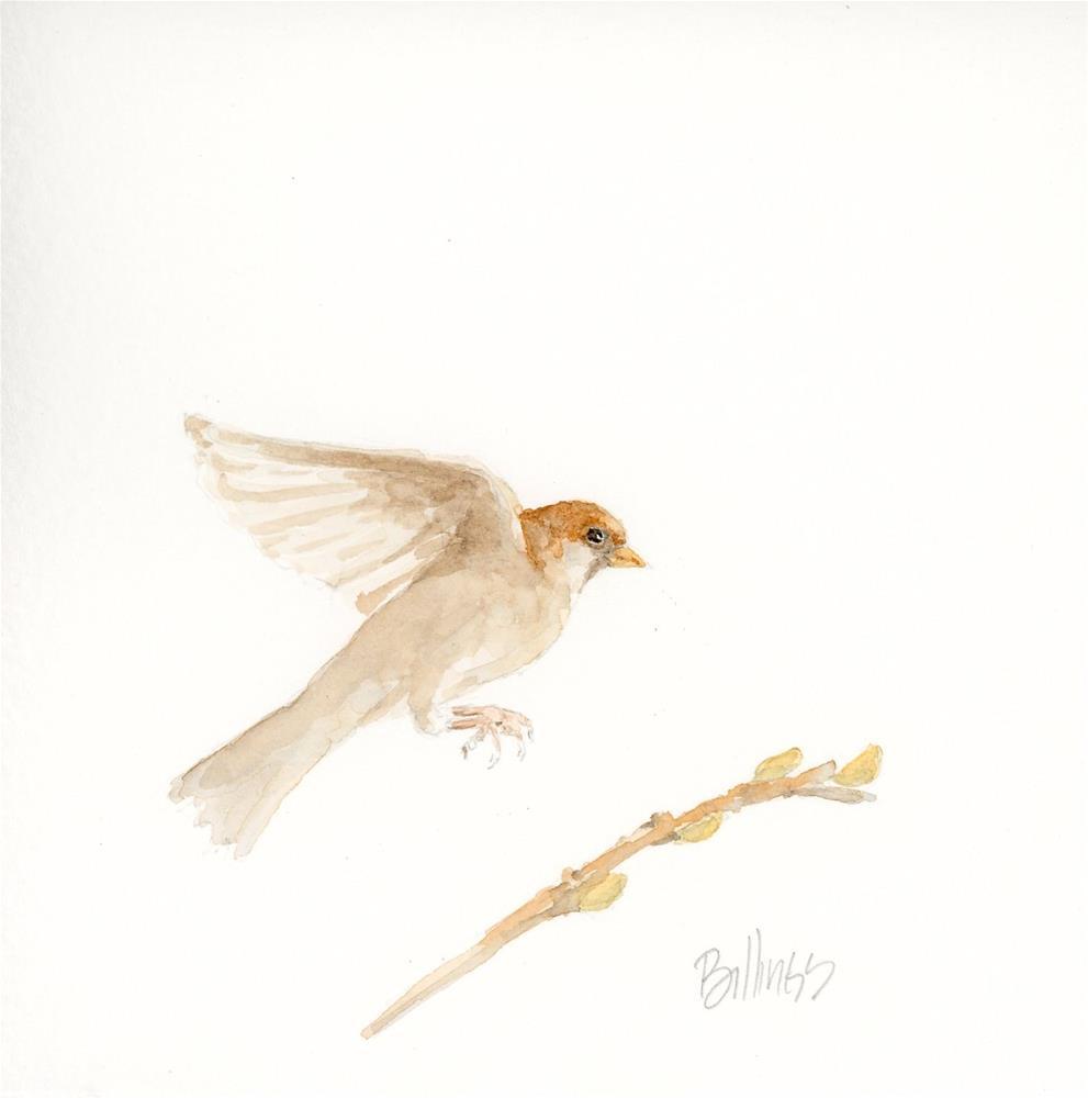 """""""Landing Study I"""" original fine art by Susanne Billings"""