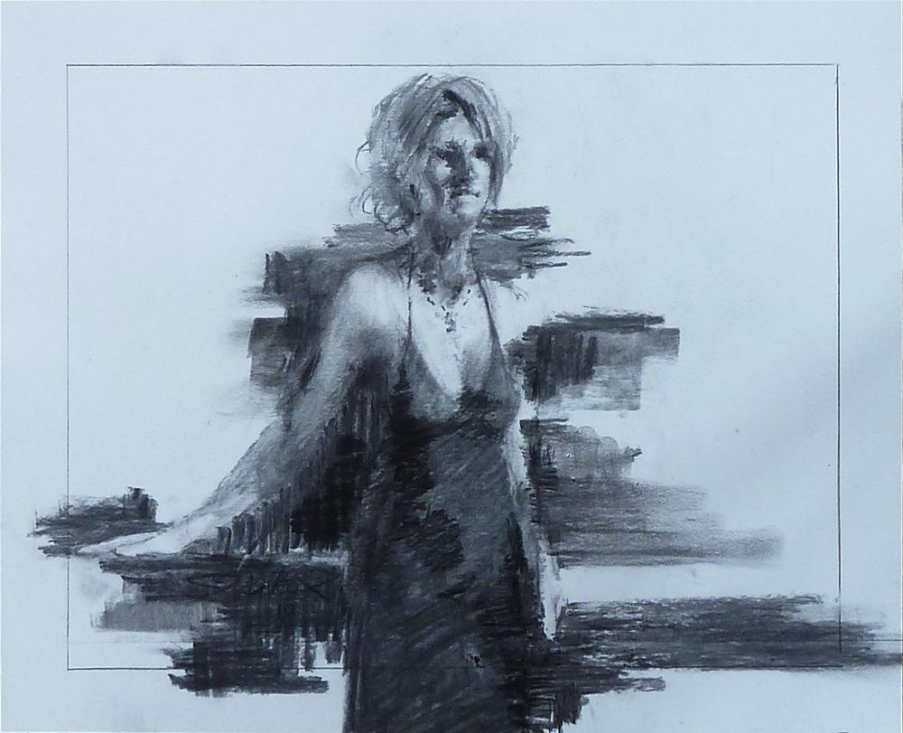 """Black Attire"" original fine art by Ron Ferkol"