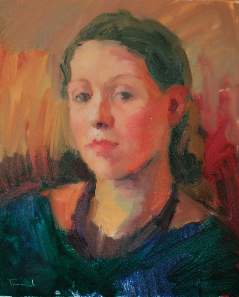 """Girl in Dark Dress"" original fine art by Kathryn Townsend"