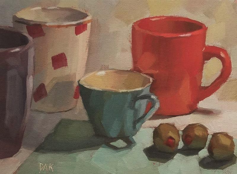 """Olive Contemplation"" original fine art by Deborah Ann Kirkeeide"