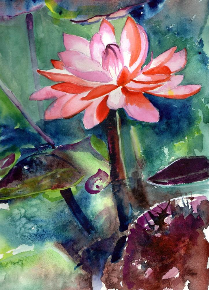 """""""Water Lily"""" original fine art by Bunny Griffeth"""