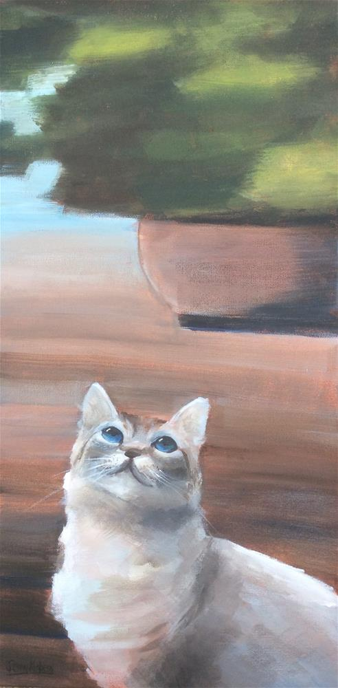 """Looking Up"" original fine art by Jenny Kinberg"
