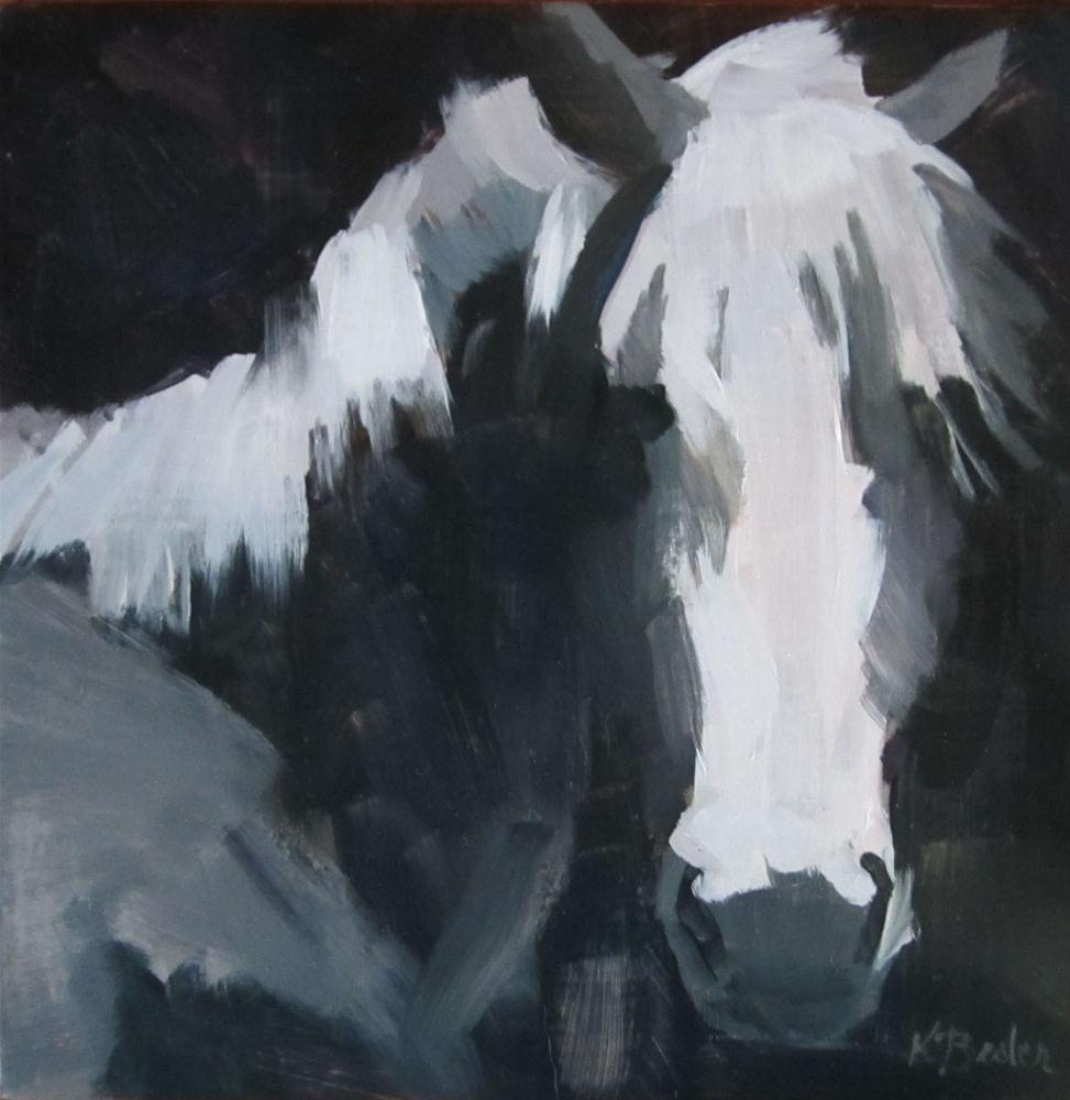 """""""horse in grays"""" original fine art by Kaethe Bealer"""