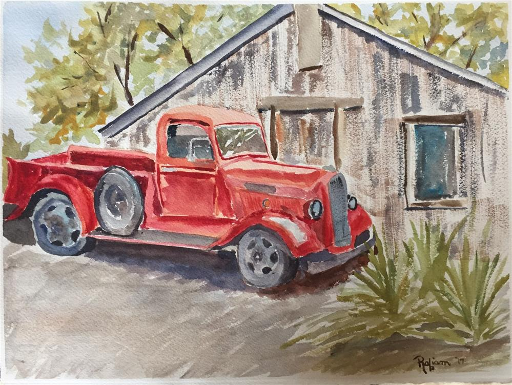 """""""Still Truckin'"""" original fine art by Renee Robison"""