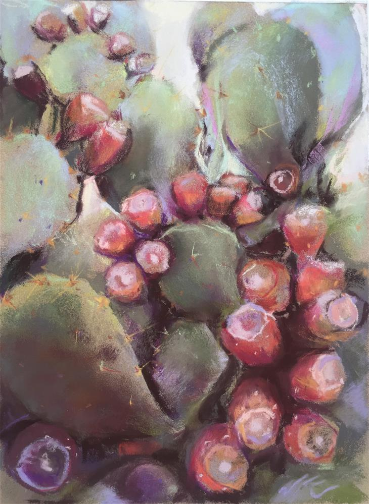 """PricklyPear"" original fine art by Jean Krueger"