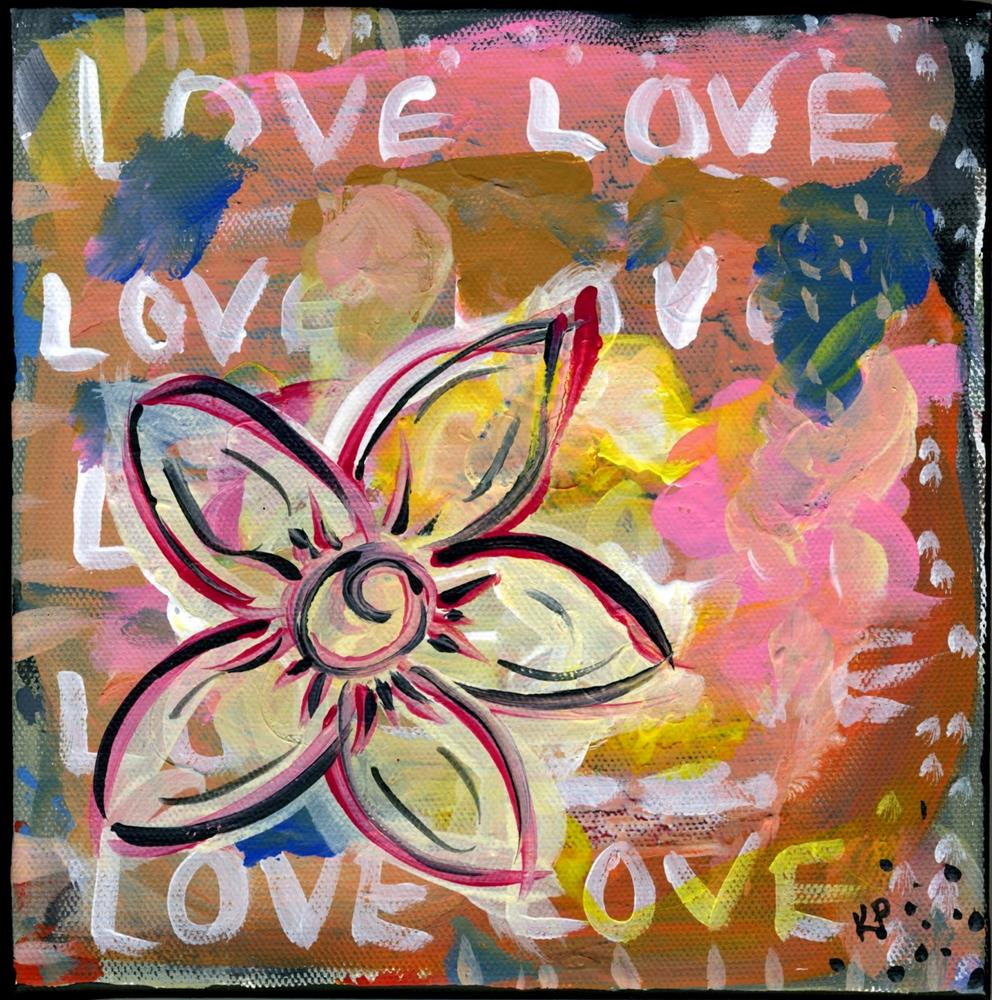 """LOVE!"" original fine art by Kali Parsons"