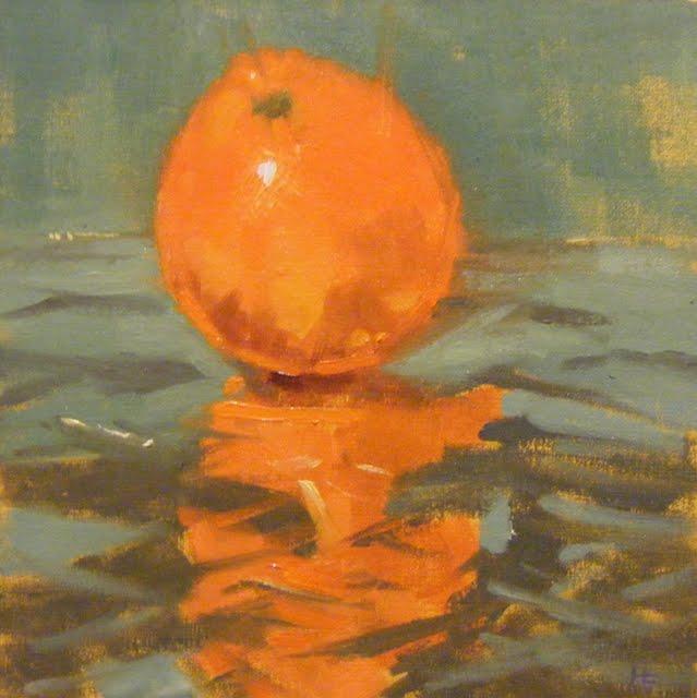 """ORANGEDAZZLE"" original fine art by Helen Cooper"